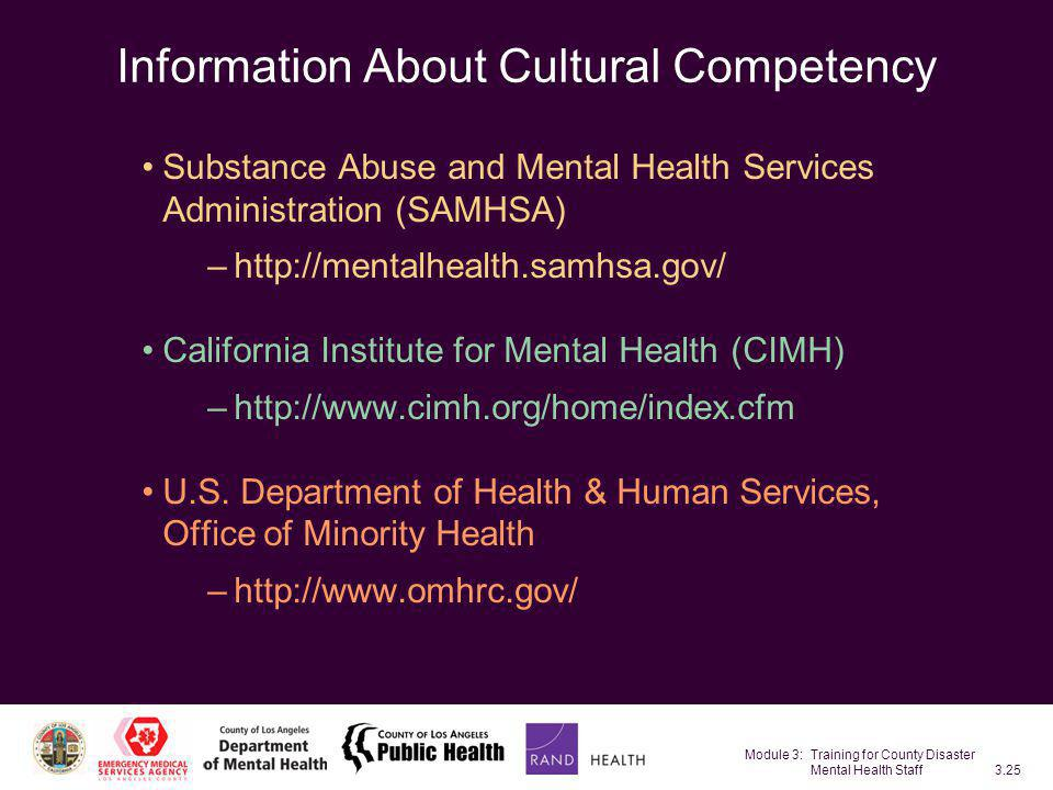 Information About Cultural Competency