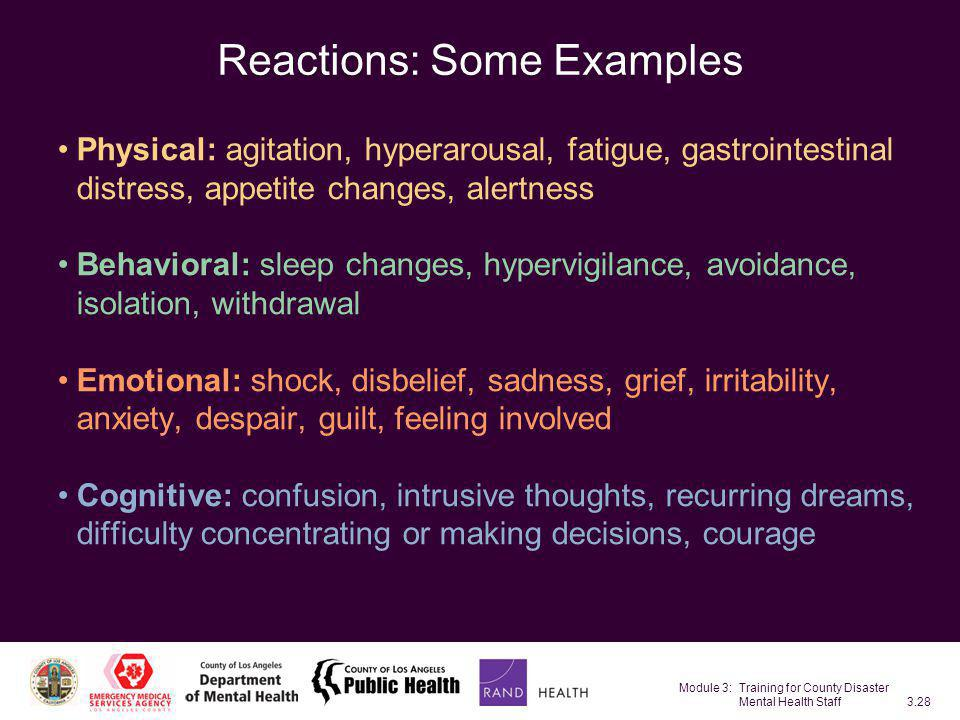 Reactions: Some Examples