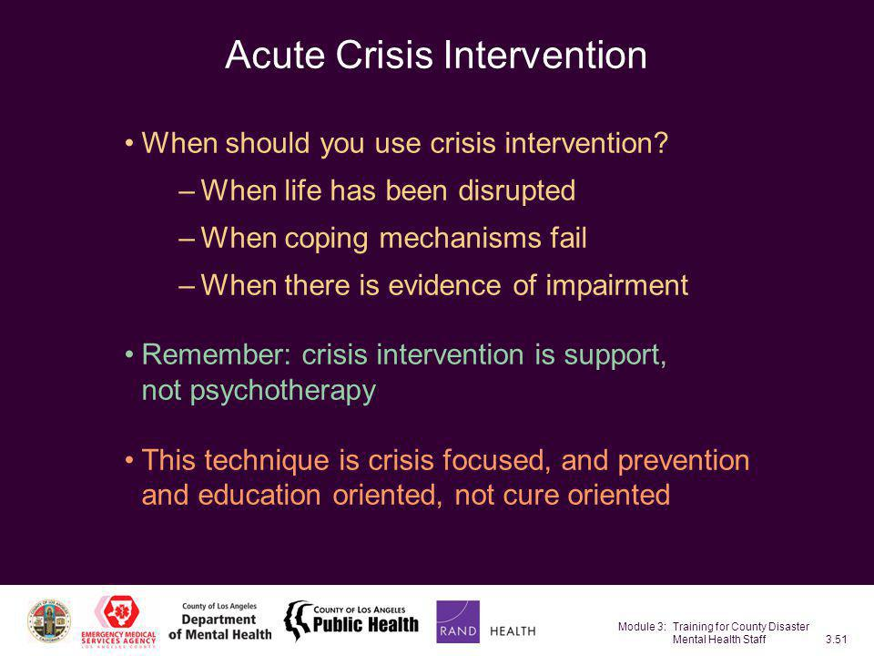 Acute Crisis Intervention