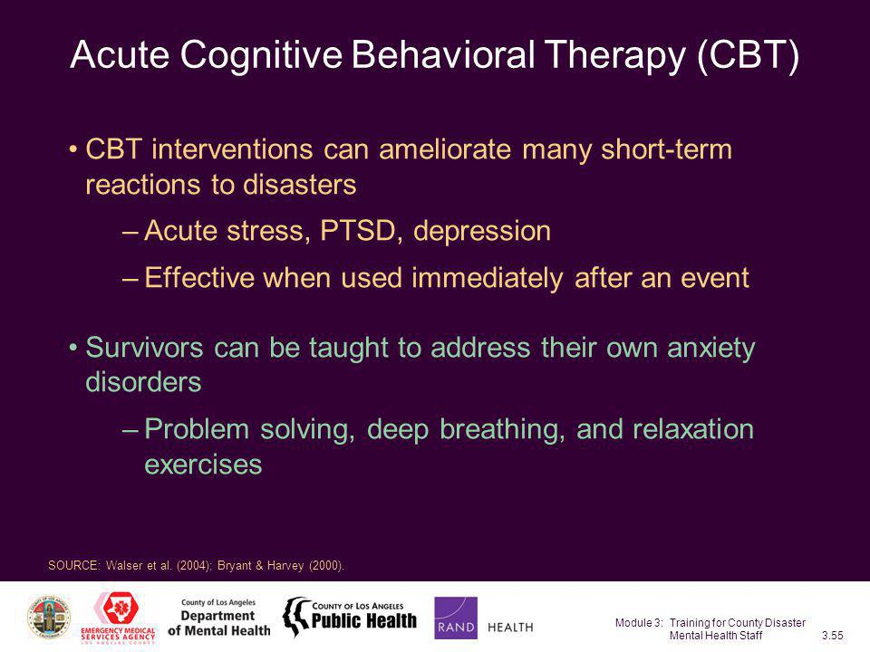 Acute Cognitive Behavioral Therapy (CBT)