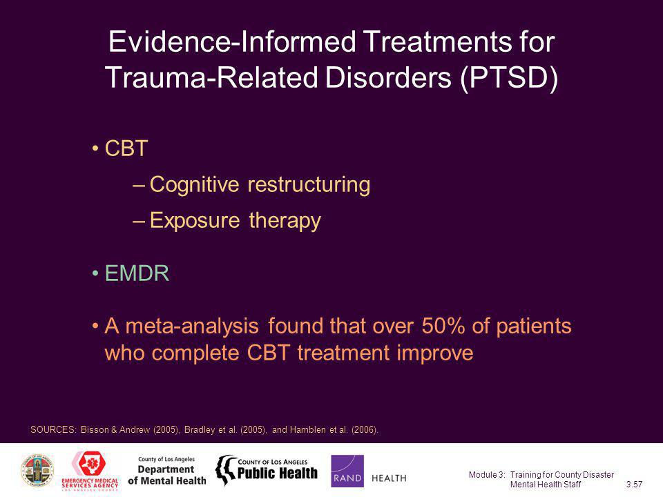 Evidence-Informed Treatments for Trauma-Related Disorders (PTSD)