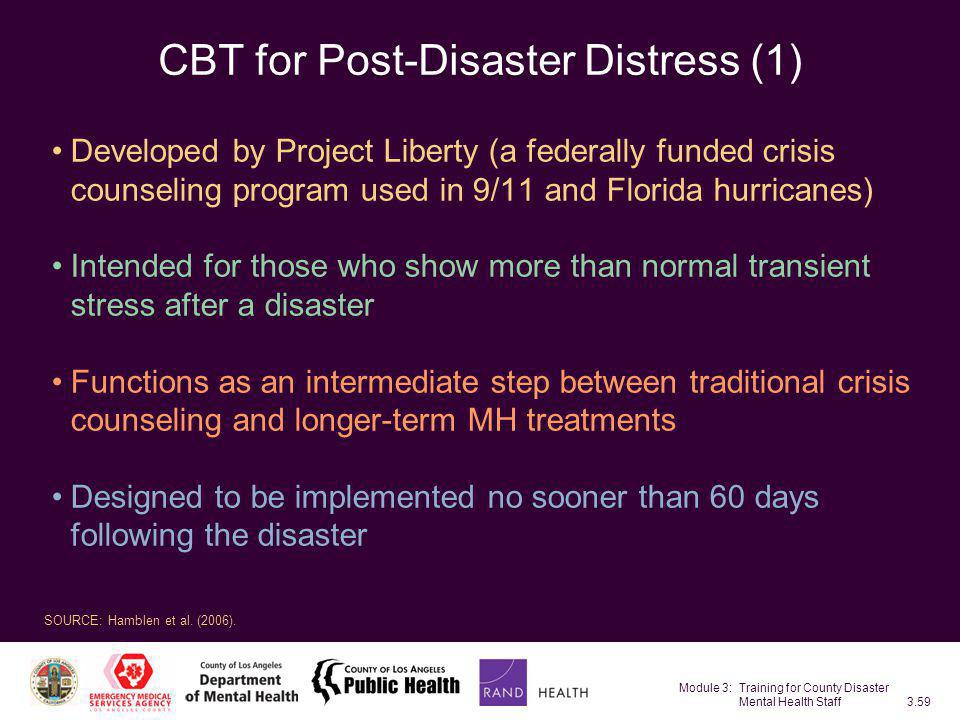 CBT for Post-Disaster Distress (1)