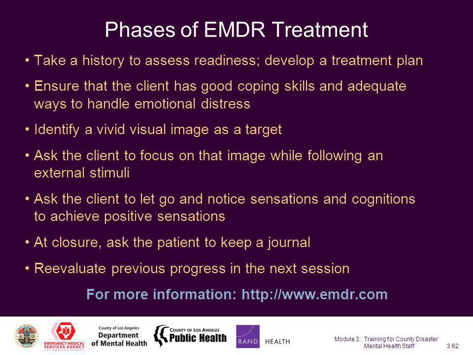 Phases of EMDR Treatment