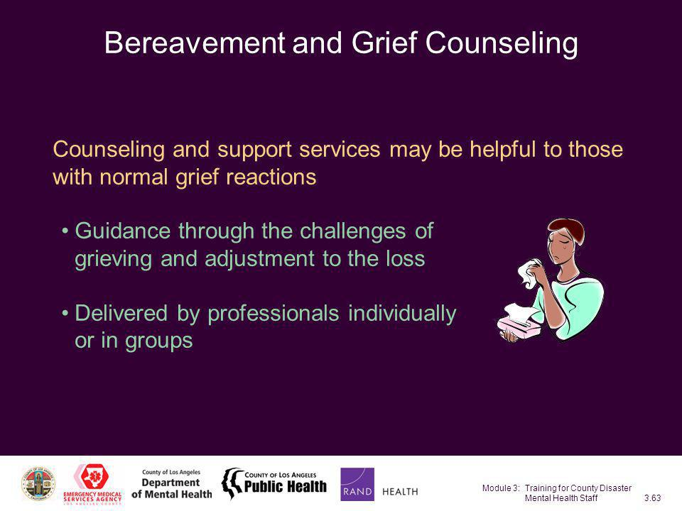 Bereavement and Grief Counseling