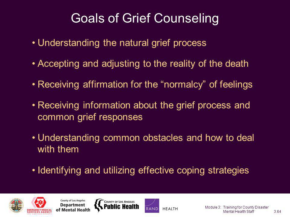 Goals of Grief Counseling