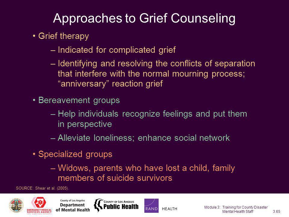 Approaches to Grief Counseling