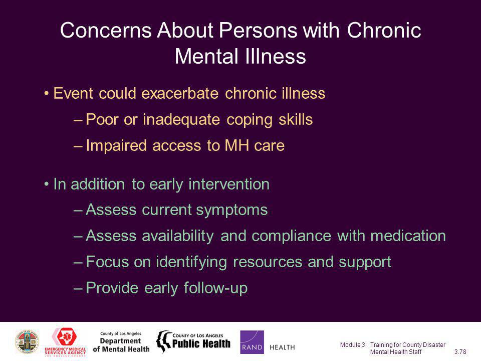 Concerns About Persons with Chronic Mental Illness