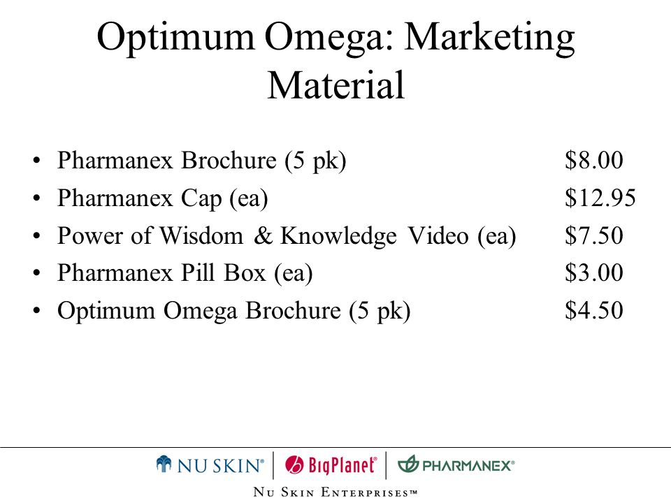Optimum Omega: Marketing Material