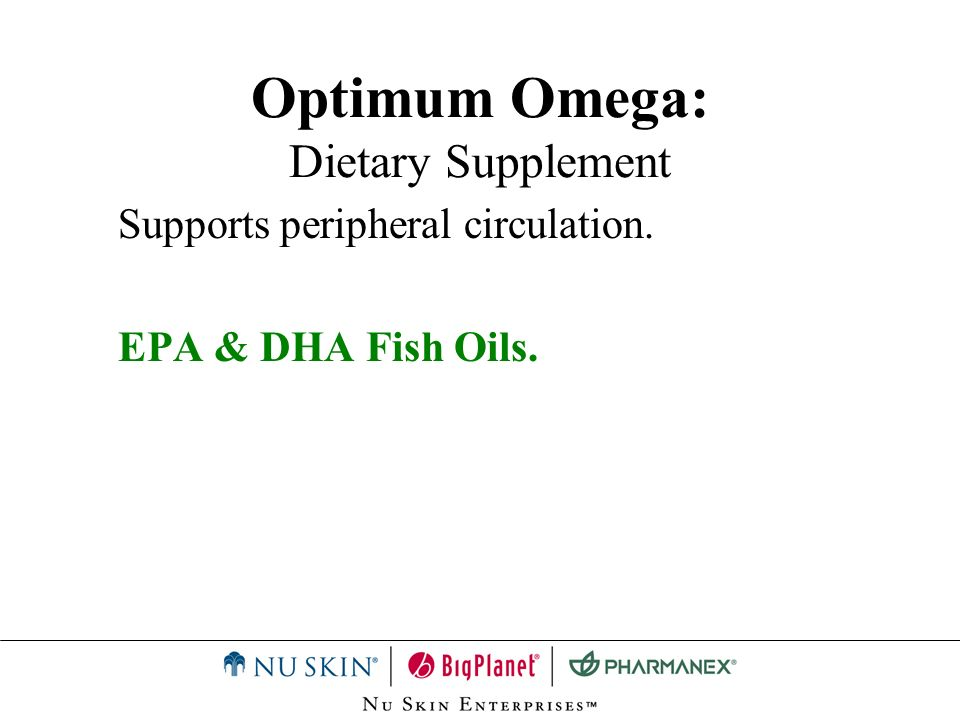 Optimum Omega: Dietary Supplement