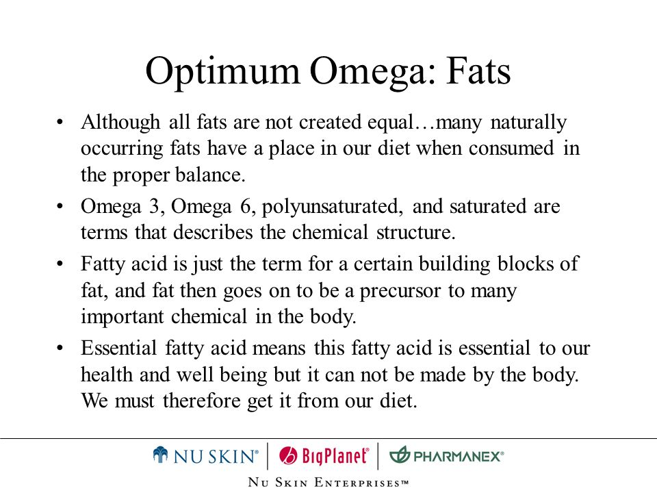 Optimum Omega: Fats