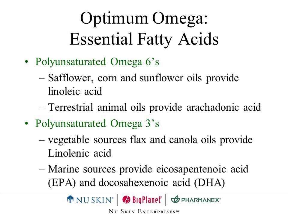 Optimum Omega: Essential Fatty Acids