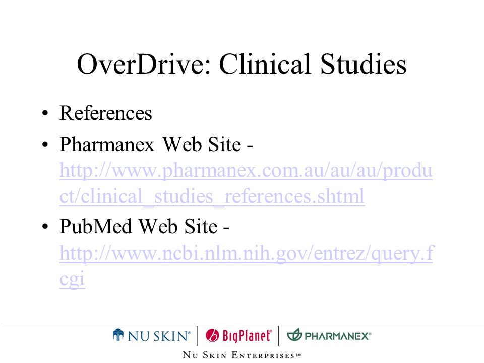 OverDrive: Clinical Studies