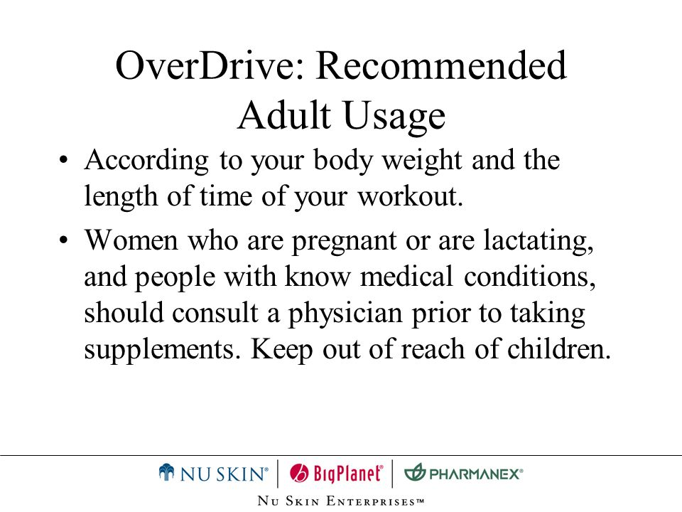 OverDrive: Recommended Adult Usage