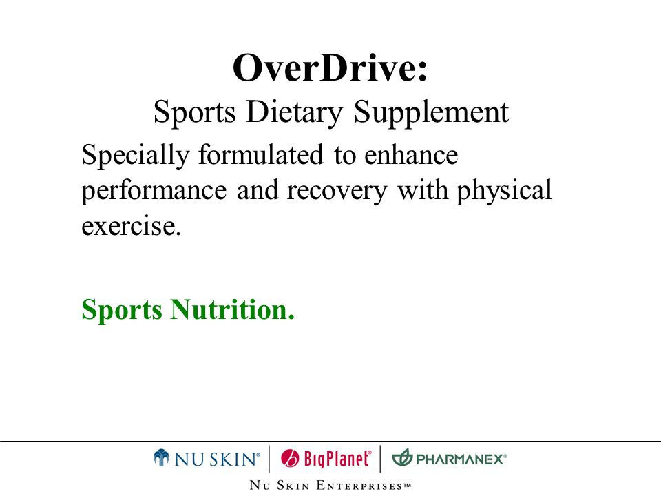 OverDrive: Sports Dietary Supplement