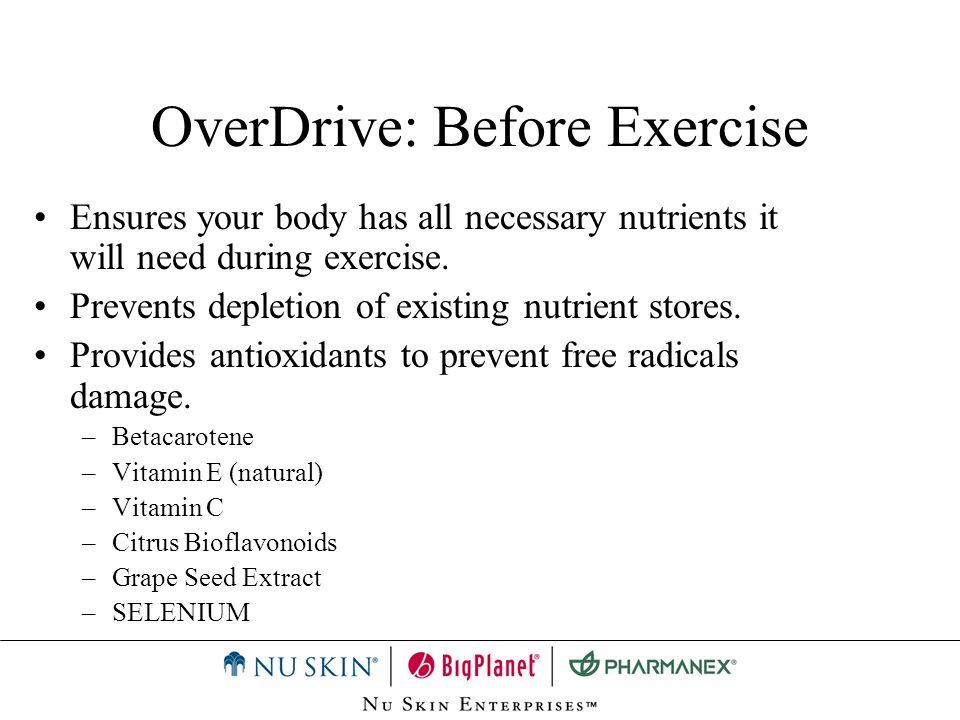 OverDrive: Before Exercise