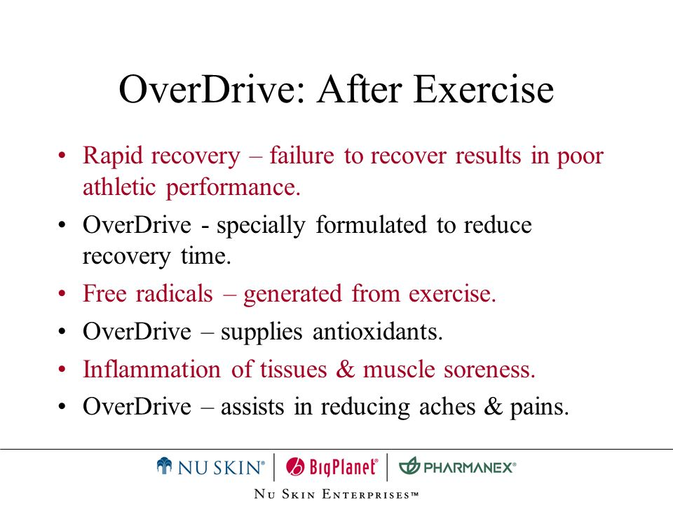 OverDrive: After Exercise