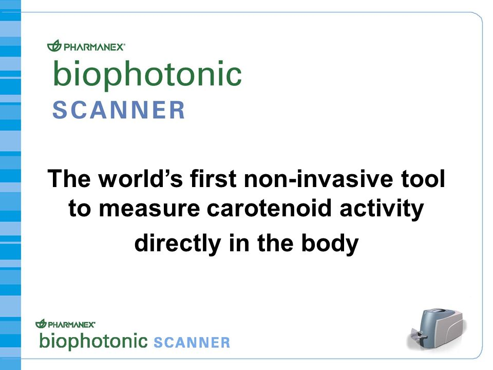 The world's first non-invasive tool to measure carotenoid activity directly in the body