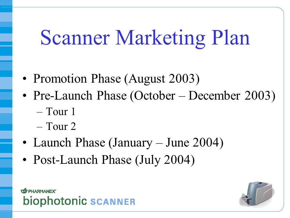 Scanner Marketing Plan