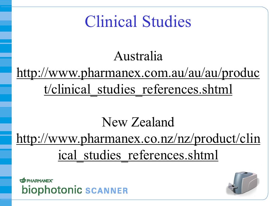 Clinical Studies Australia http://www. pharmanex. com