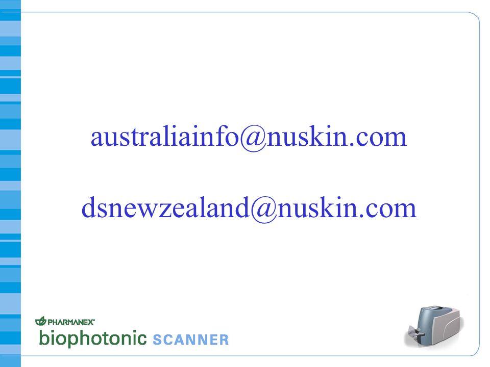 australiainfo@nuskin.com dsnewzealand@nuskin.com