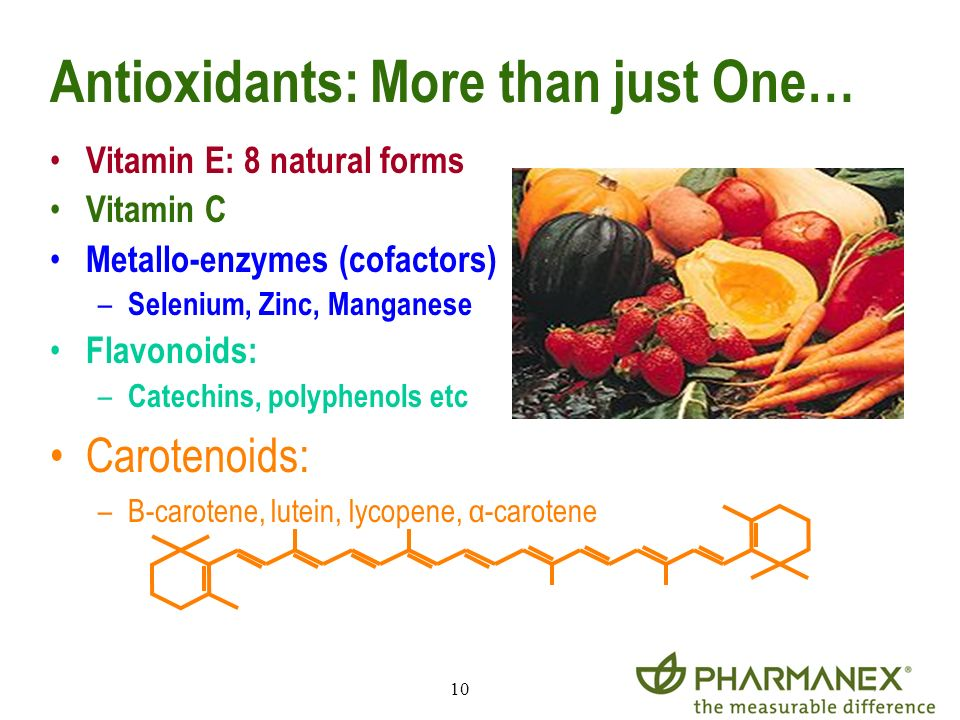 Antioxidants: More than just One…