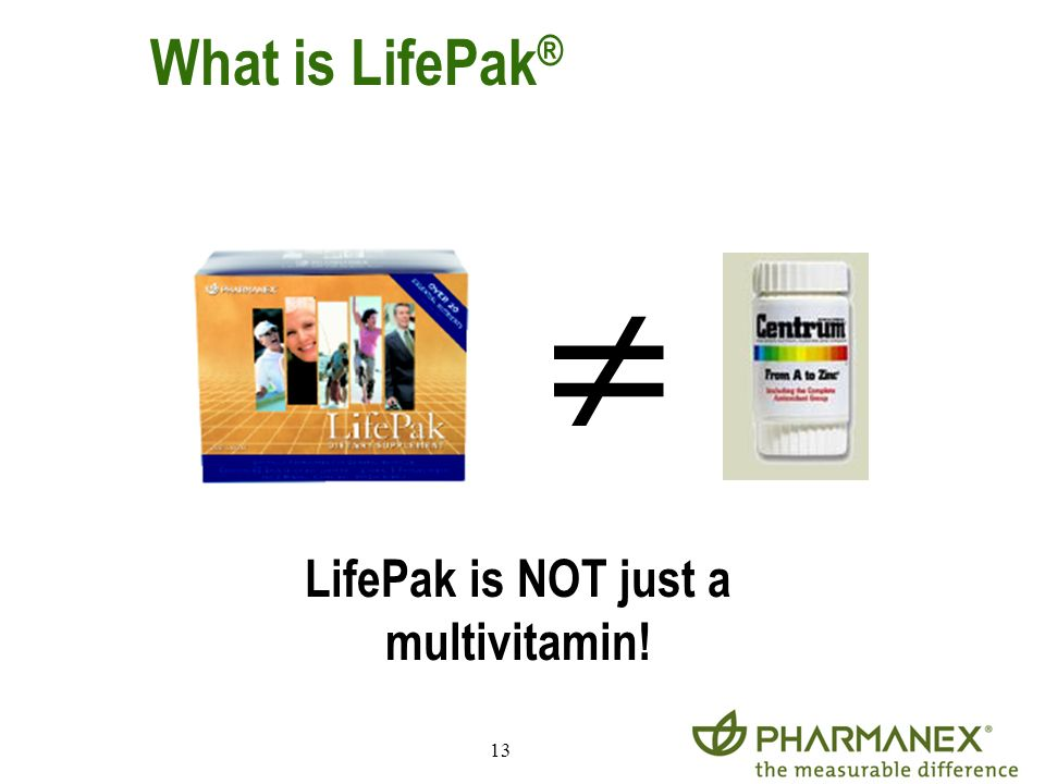 LifePak is NOT just a multivitamin!
