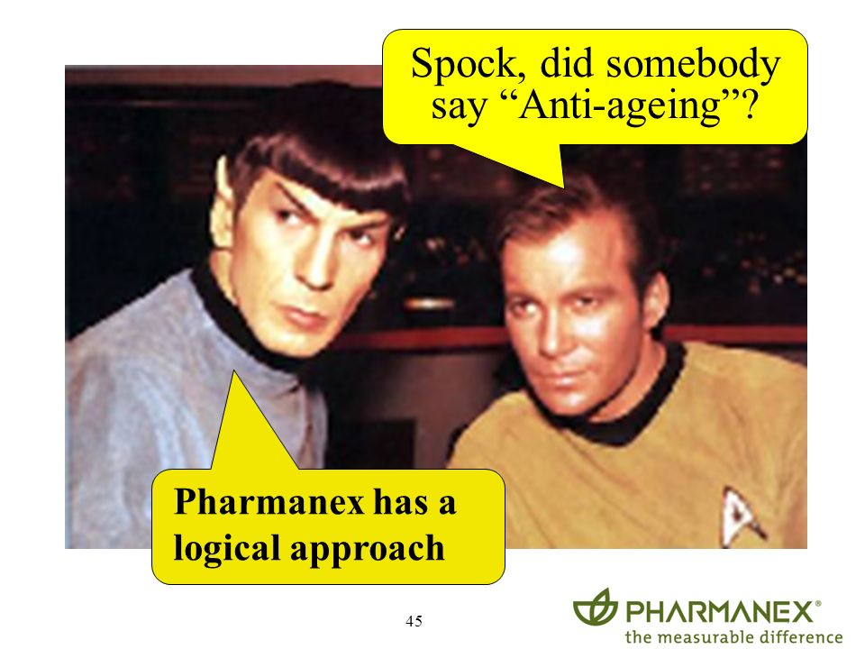Spock, did somebody say Anti-ageing