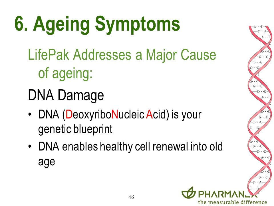 6. Ageing Symptoms LifePak Addresses a Major Cause of ageing: