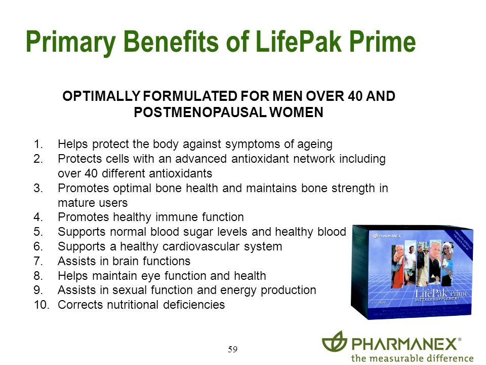 Primary Benefits of LifePak Prime