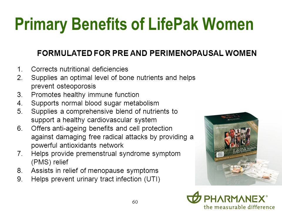 Primary Benefits of LifePak Women