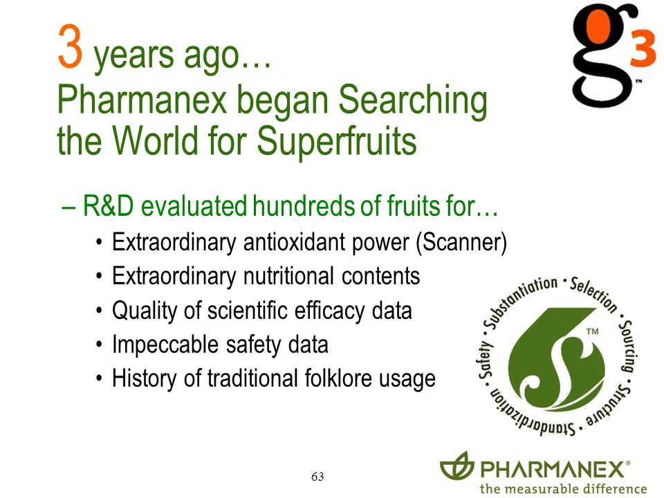 3 years ago… Pharmanex began Searching the World for Superfruits