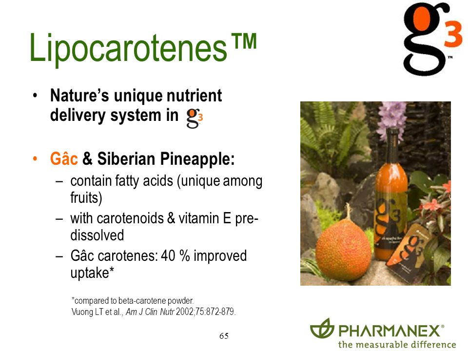 Lipocarotenes™ Nature's unique nutrient delivery system in