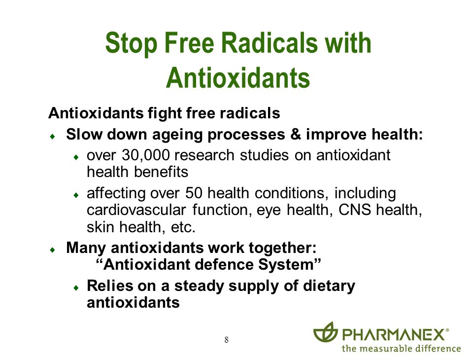 Stop Free Radicals with Antioxidants