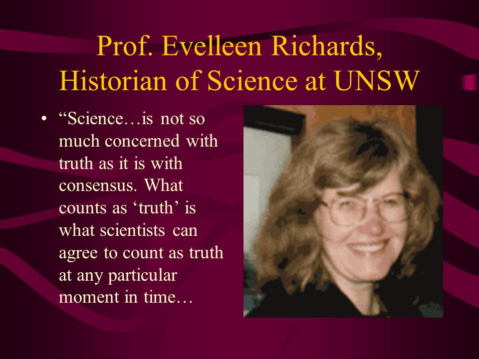 Prof. Evelleen Richards, Historian of Science at UNSW