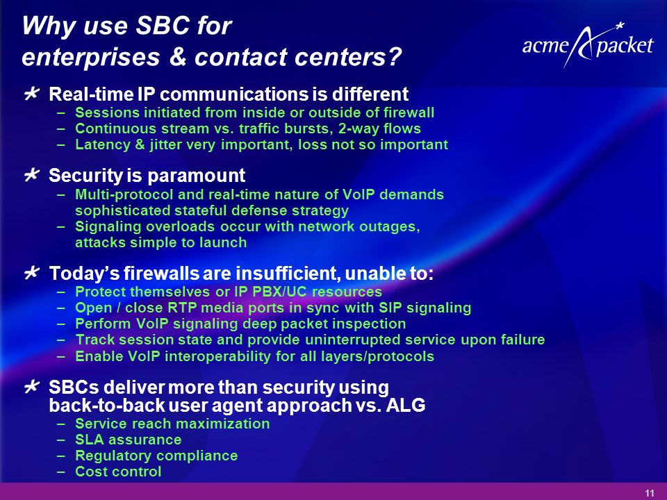 Why use SBC for enterprises & contact centers
