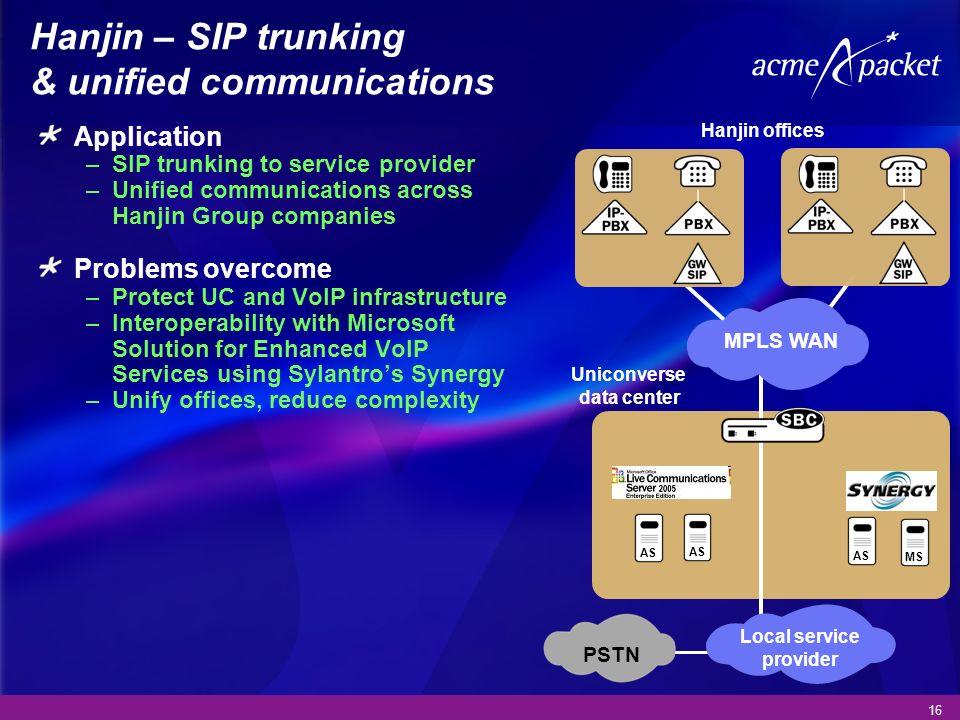Hanjin – SIP trunking & unified communications