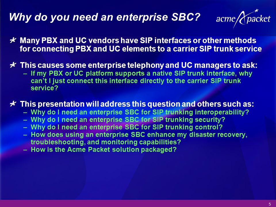 Why do you need an enterprise SBC