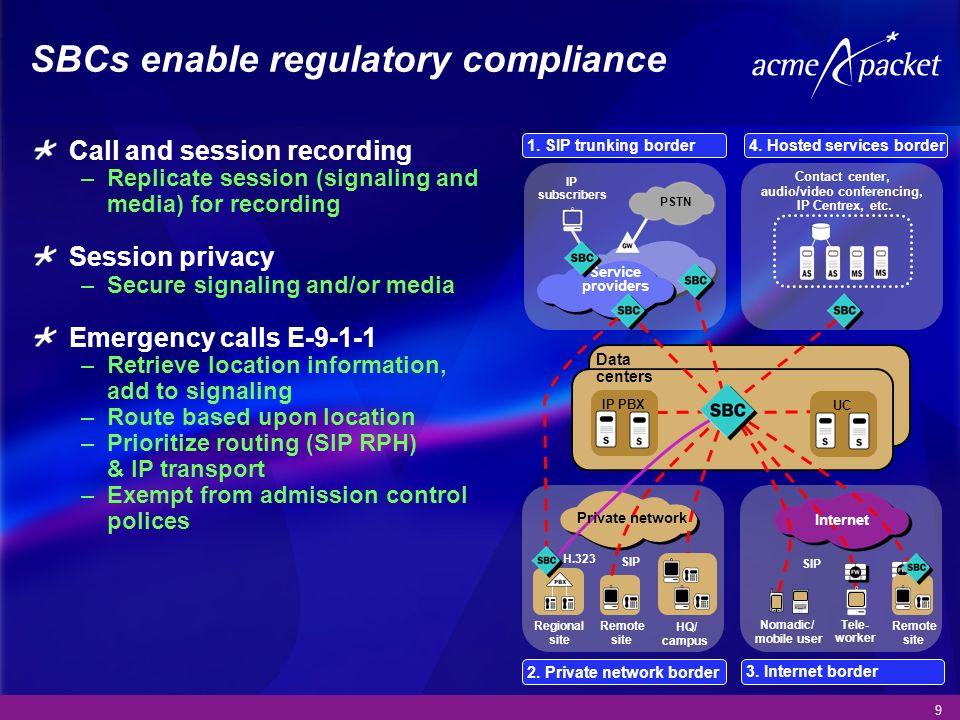 SBCs enable regulatory compliance