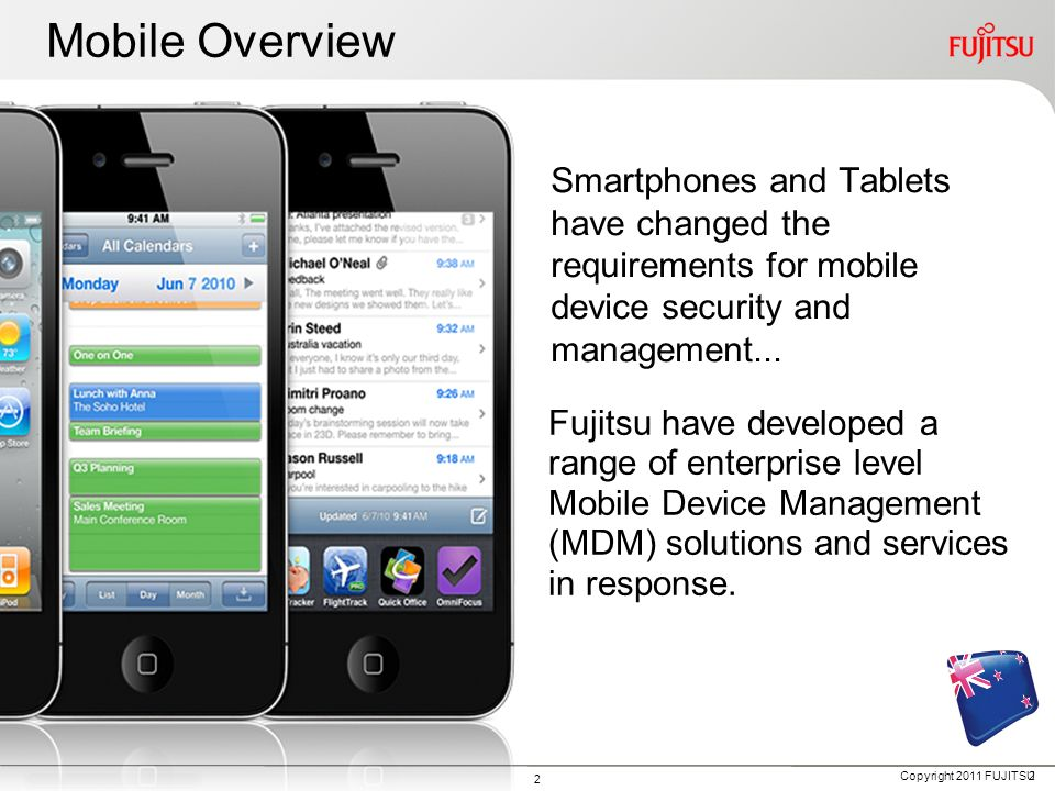 Mobile Overview Smartphones and Tablets have changed the requirements for mobile device security and management...