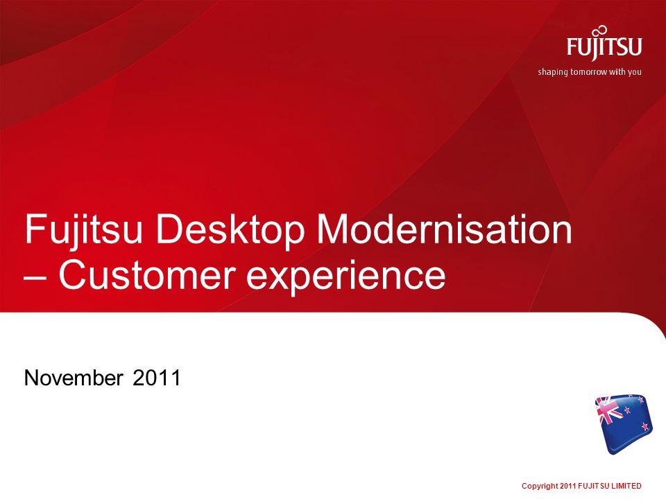 Fujitsu Desktop Modernisation – Customer experience