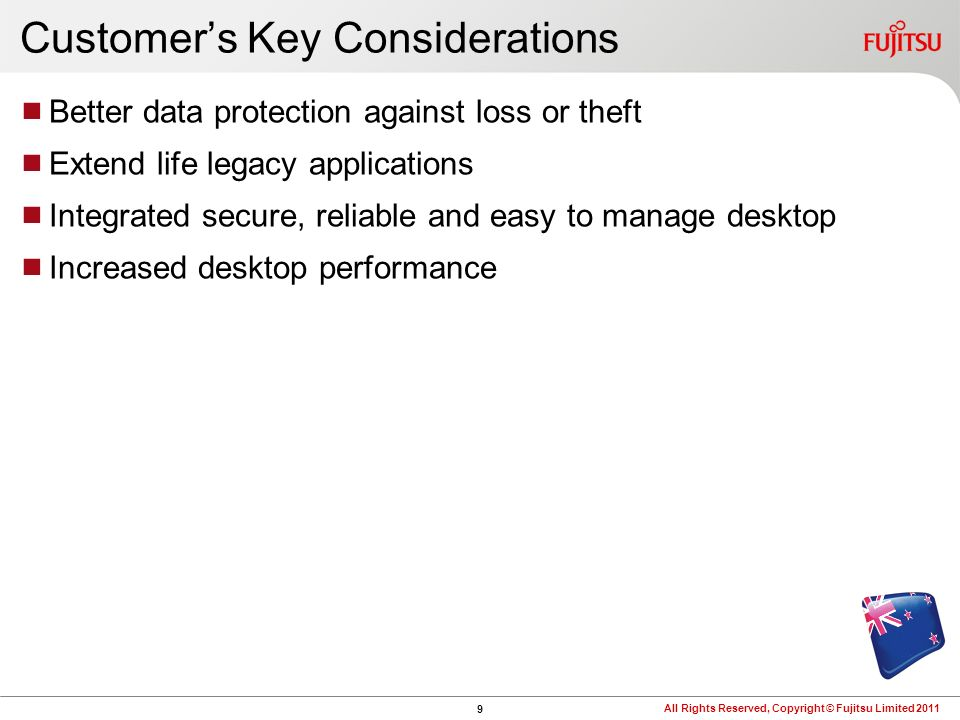 Customer's Key Considerations