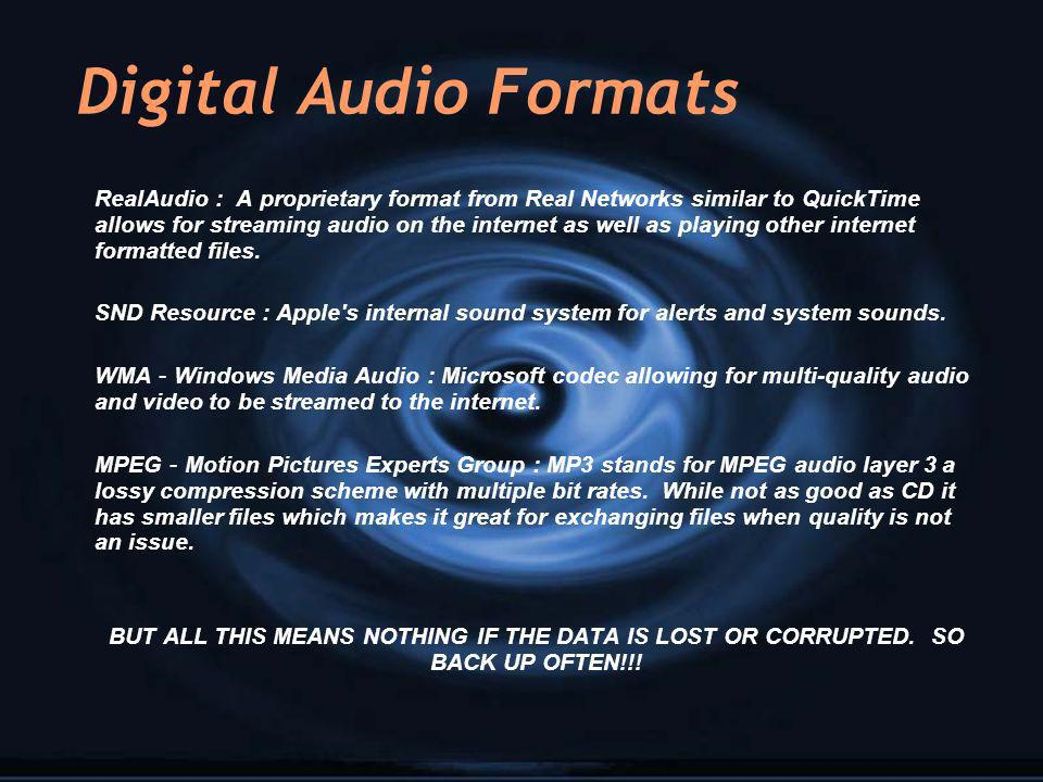 Digital Audio Formats