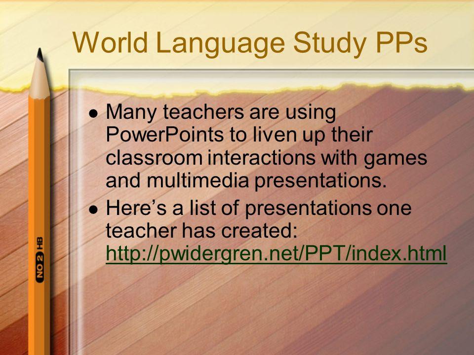 World Language Study PPs