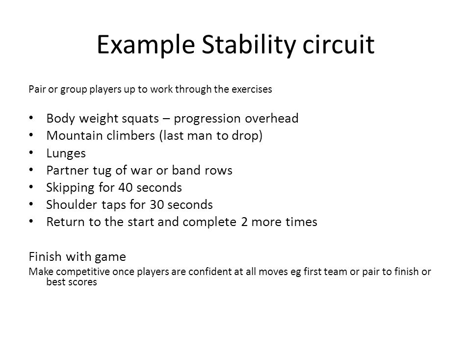 Example Stability circuit