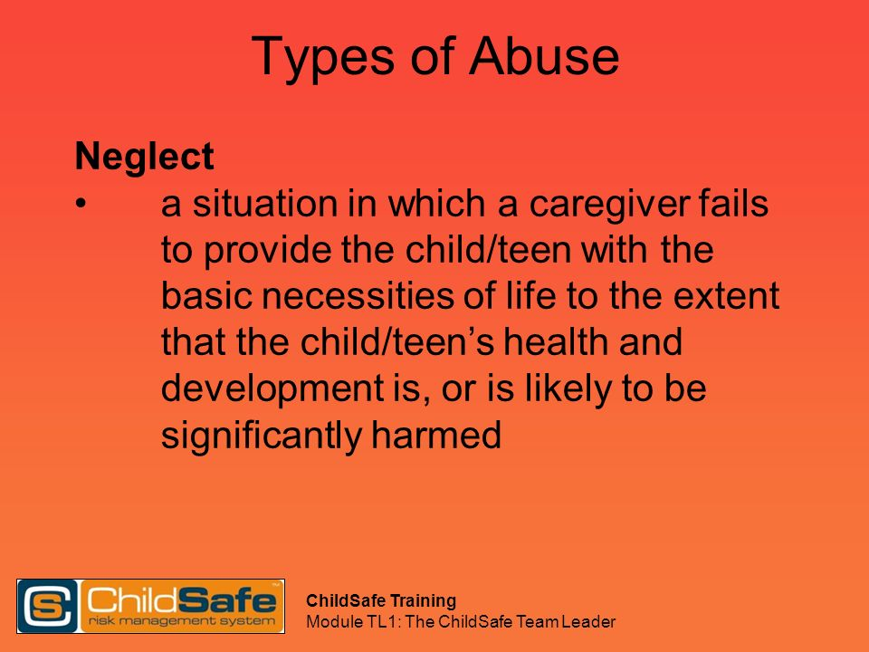 Types of Abuse Neglect.