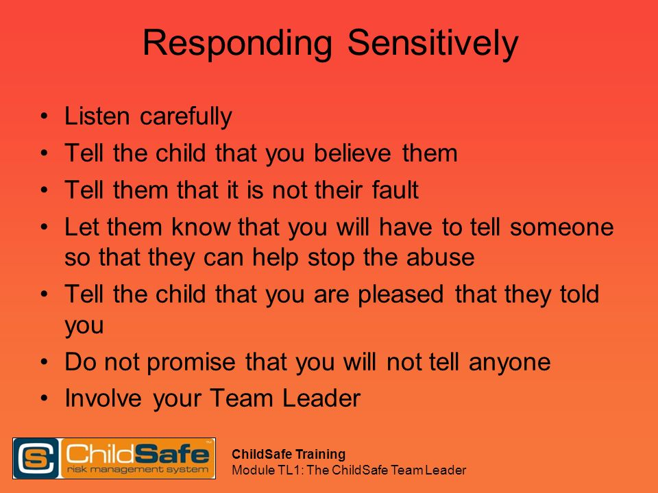 Responding Sensitively