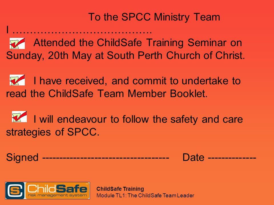To the SPCC Ministry Team I …………………………………