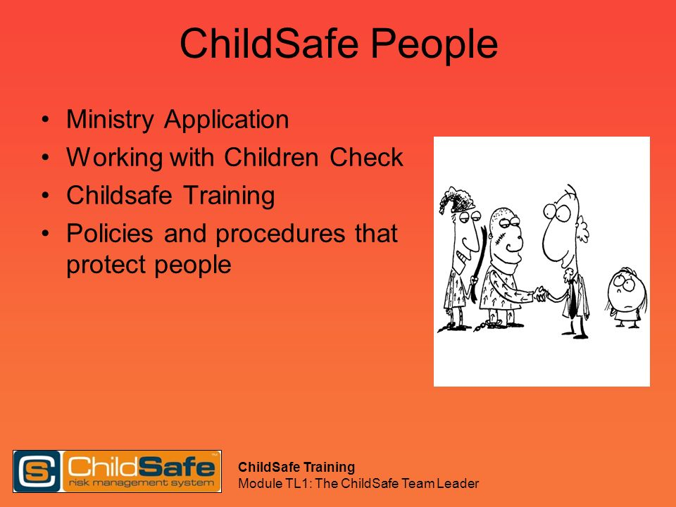 ChildSafe People Ministry Application Working with Children Check