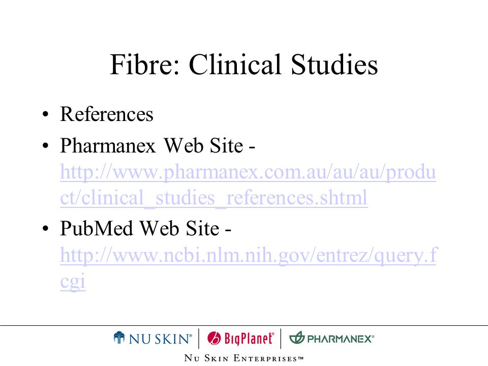 Fibre: Clinical Studies