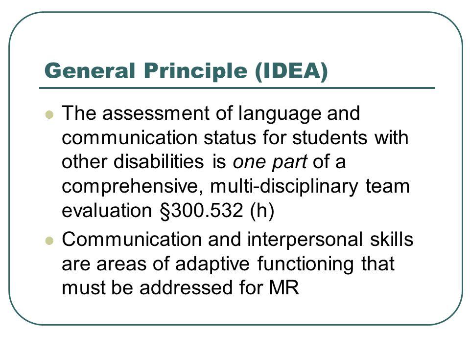 General Principle (IDEA)